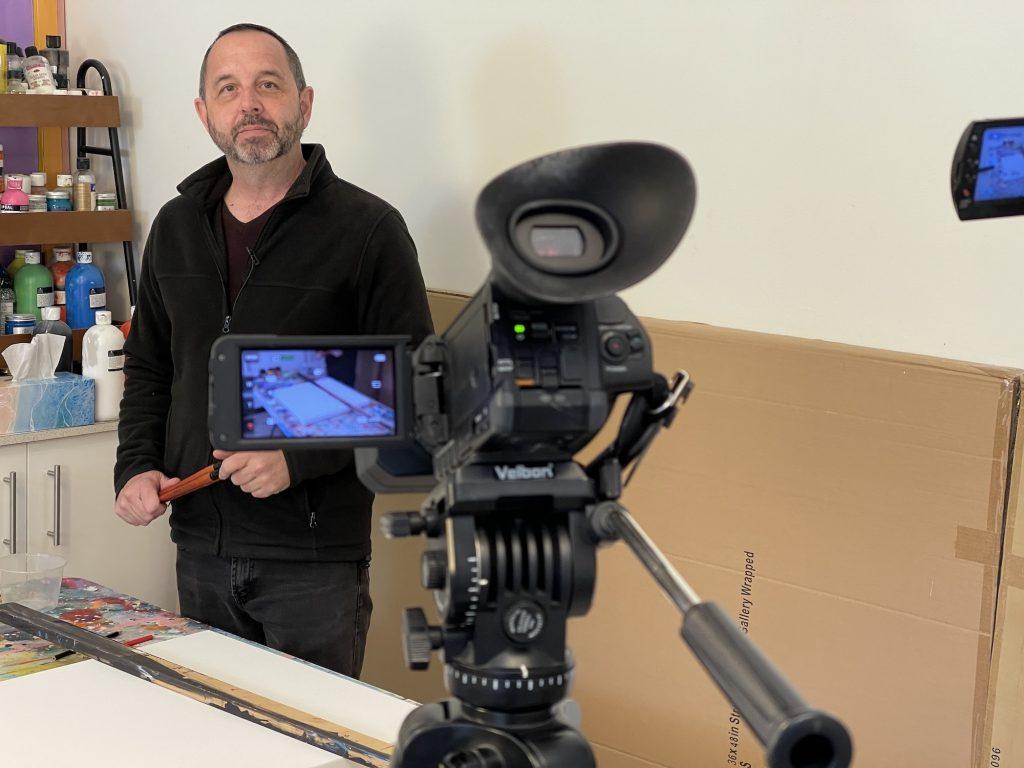Filming Graham Eldridge