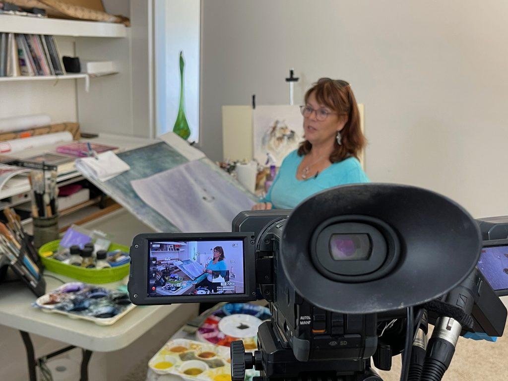 Filming Sandie Lear