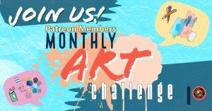 Patreon monthly art challenge banner