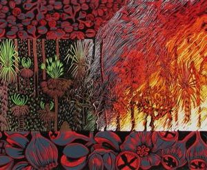 CurtisA - Adaptation-Wildfire 2004 600x240 mm $650