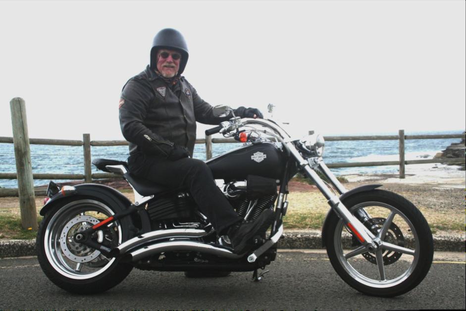Graeme on Harley