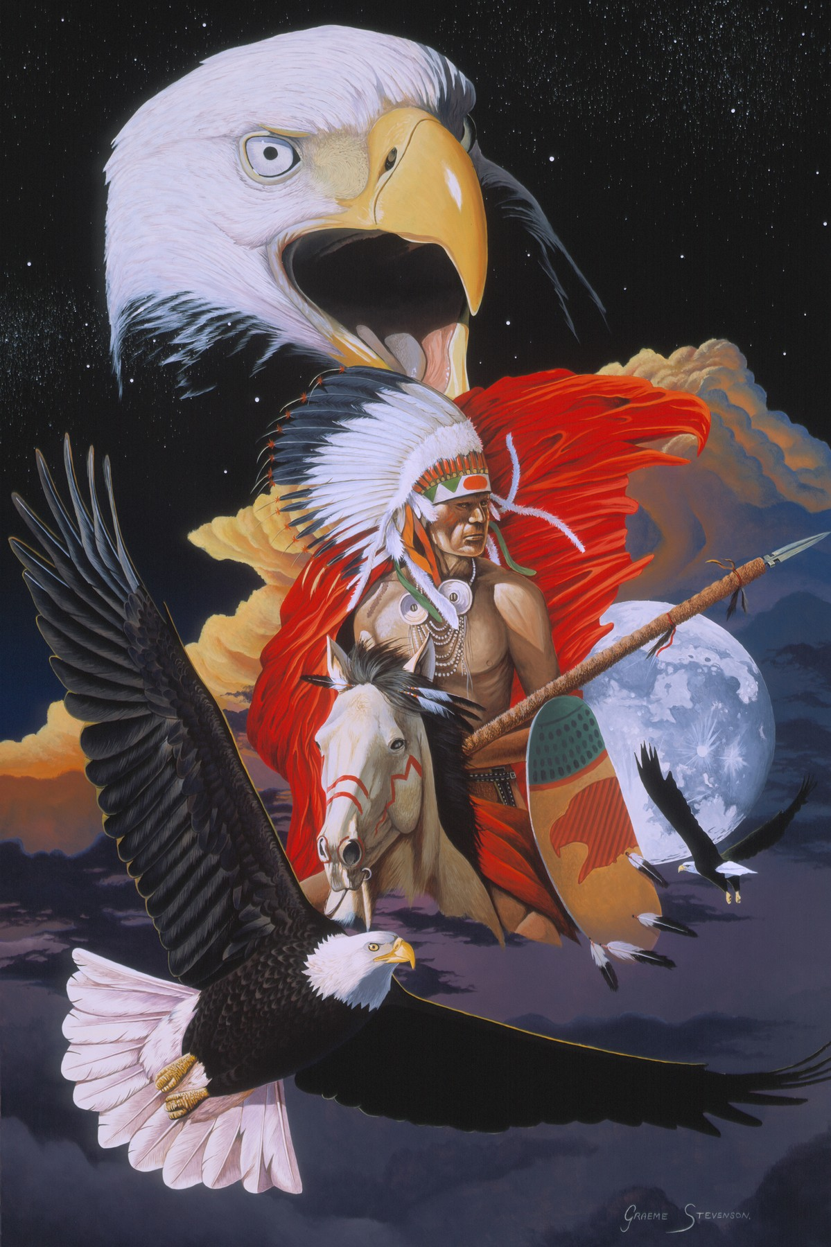 Eagle Warrior - Colour in Your Life